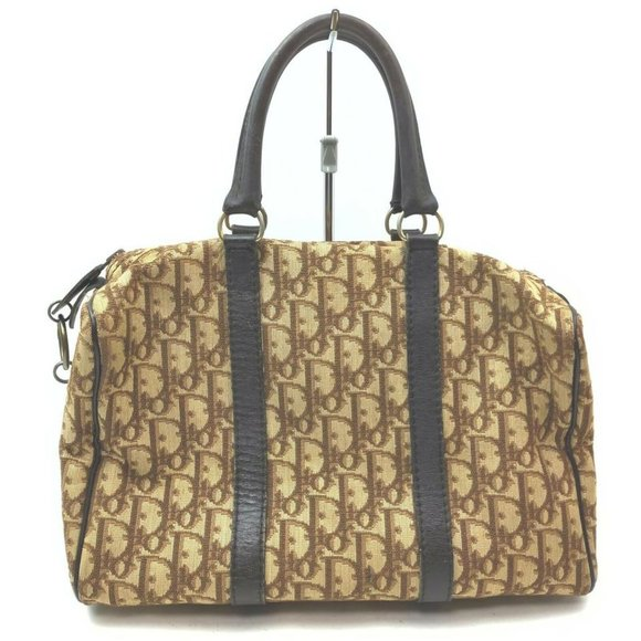 Christian Dior  Brown Trotter Duffle 861604